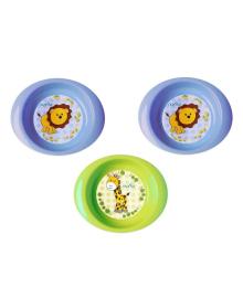 Набор глубоких тарелок Nuvita Blue&Green, 3 шт NV1422Blue, 8024025034439