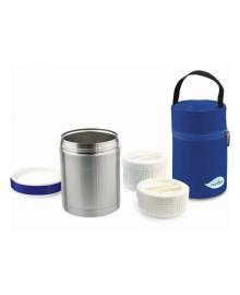 Термос для еды Nuvita Blue 1000 мл с термосумкой