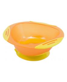 Тарелка на присоске Baby Team желто-оранжевая, 300 мл