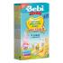 Каша молочная Bebi Premium 4 злака с персиком, 200 г 1008803, 3838471033589