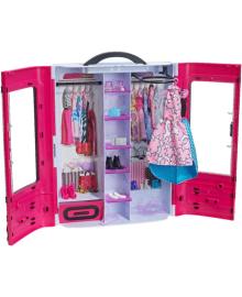 Детский игровой набор BARBIE Шкаф-чемодан для одежды обновл. (DMT57)