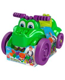 """Детский конструктор Mega Bloks Машинка-крокодил """"Катайся и собирай кубики"""" (GFG22)"""
