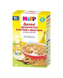 Детские органические хлопья HiPP с фруктами 200