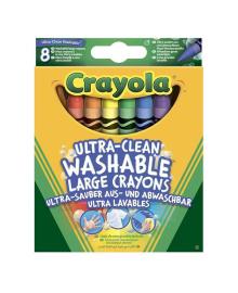 Набор больших восковых мелков Crayola Ultra clean washable 8 шт