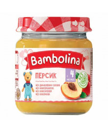 Пюре Bambolina Персик, 100 г