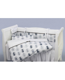 Комплект постельного белья 3 элемента Puer Optimus серый