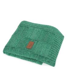 Вязанный плед Ceba Baby 90х90 см зеленый