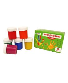 Пальчиковые краски-гуашь Western industrial 6 цветов Гамма 322074/Cr, 4820219210429