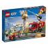 Конструктор LEGO City Пожар в бургер-кафе, 327 деталей (60214), 5702016369267
