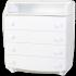 Пеленальный комод Верес 16 Гладкий фасад, белый (33.4.2.2.06), 2100081103350