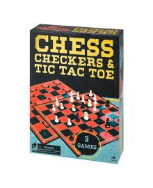 Набор игр Spin Master Шахматы, шашки и крестики-нолики