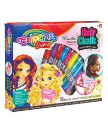 Мел для волос Colorino 10 цветов 68635PTR, 5907690868635