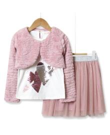 Костюм для девочки 3 в 1 See you later, розовый Baby Rose 2981