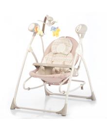 Детские колыбель-качели Carrello Nanny (Каррелло Нани) 3 в 1 CRL-0005 Beige Dot (6900075000100) Цвет Бежевый