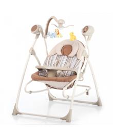 Детские колыбель-качели Carrello Nanny (Каррелло Нани) 3 в 1 CRL-0005 Beige Stripe (6900075000049) Цвет Бежевый