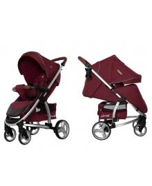Детская прогулочная коляска Carrello Vista (Каррелло Виста) (Каррелло Виста) CRL-8505 Ruby Red в льне с дождевиком L (6900085000794) Цвет Красный