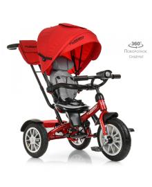 Трехколесный велосипед Turbo Trike M 4057-1, надувные резиновые колеса, красный TURBOTRIKE