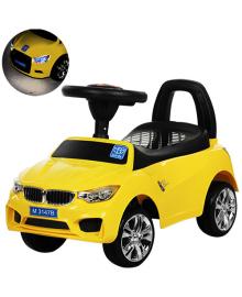 Детская каталка толокар BAMBI M 3147B-6 BMW, желтая