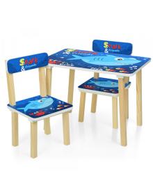 Детский столик 501-74, со стульчиками, Shark