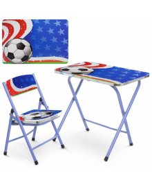 Детский столик A19-FB, футбол, со стульчиком