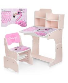Детская парта BAMBI W 2071-74-3 Фламинго, со стульчиком