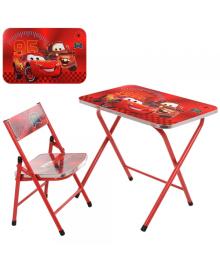 Детский столик A19-MQ со стульчиком, Тачки