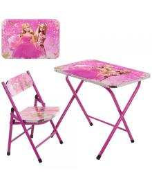Детский столик A19-BB со стульчиком, Barbie