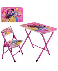 Детский столик A19-PR со стульчиком, Принцессы