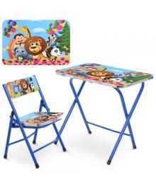Детский столик A19-ZOO, зоопарк, со стульчиком