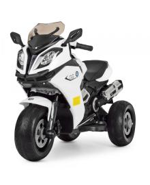 Детский электромотоцикл Bambi M 3913EL-1 White (M 3913EL-1)
