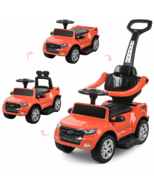 Детский электромобиль BAMBI M 3575 EL-7, каталка-толокар BAMBI M 3575 EL-7, оранжевый