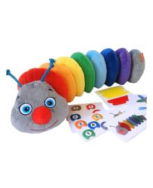 Мягкая развивающая игрушка Масік Гусеница Rainbow
