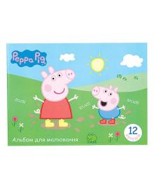 Альбом для рисования Перо Peppa Pig, 12 листов, 4820184120181