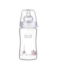 Бутылочка стеклянная Canpol babies Lovi Diamond Glass Retro girl, 250 мл 74/202