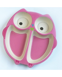 Тарелка из бамбукового волокна Owl Tiny Footprint SR20082-Owl