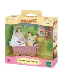 Набор Sylvanian Families Шоколадные кролики-двойняшки в коляске 5018, 4007547501829