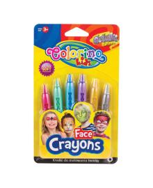 Краски для лица Colorino Metallic 6 цветов 65917PTR, 5907690865917