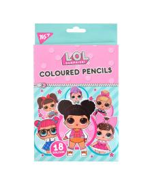 Набор цветных карандашей YES LOL Sweety 18 шт 290572