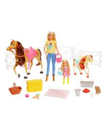 Набор Barbie Hug&Dolls Horses