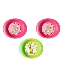 Набор плоских тарелок Nuvita Rose&Green, 3 шт NV1428Pink