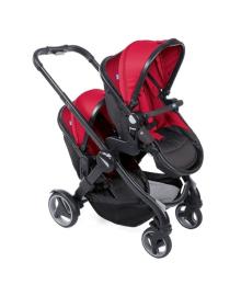 Универсальная коляска для двойни Chicco Fully Twin красная 2 в 1 79003.64