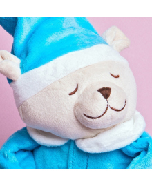 Игрушка для сна Doodoo toys Мишка Лу с ночником, Голубой (5425034060090)
