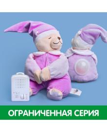 Игрушка для сна Мишка Луиза с ночником DooDoo toys, Фиолетовый, (5425034060175)