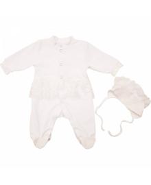 Человечек велюровый для крещения для девочки Minikin 1711604