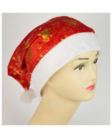 Шапка Дед мороз Колокольчики (красная) 021216-020