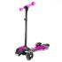 Детский самокат UTM с турбиной, светящимися колесами, музыкой и Bluetooth Рожевий ( )