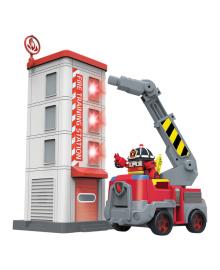 Игровой набор Robocar Poli Пожарная станция с фигуркой Рой