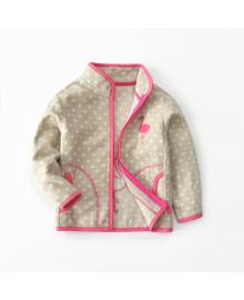Кофта для девочки флисовая утеплённая Berni Маленький фламинго Бежевий (SVLT-WY1433) Berni Kids