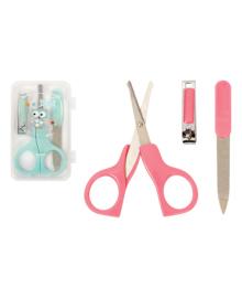 Набор Lindo Pink&Green Маникюрные ножницы и щипчики (в ассорт)