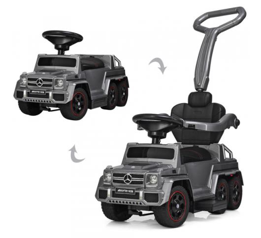 Детский электромобиль-толокар BAMBI M 3853 EL-11, Mercedes, мягкое сиденье